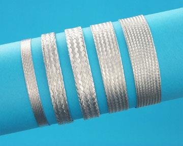 """Aa59569f30t0437aa59569f30t0437 Flat Braidt.c. 1/2"""" Width Sheildingground Strap 30awg 240:noof WireS-Approx Awg:6 Rohs"""