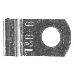 """f271Thomas & Betts F271Non-Insulated Flag Terminal4AWG 1/4"""" Stud Nickel PlatedRoHS"""